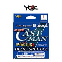 YGK SUPER CASTMAN BLUE 200M(요츠아미 슈퍼 캐스트맨 블루 SP WX8 200M 2호~3호)